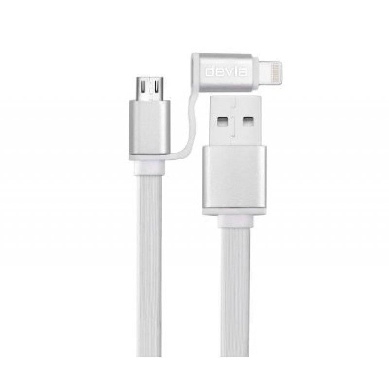 Cavo USB 2in1 - micro USB e iOS 7.9 - dati e carica per Android e Apple - DEVIA Magic